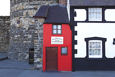 Smallest house in Great Britain, Conwy, North Wales, Wales, United Kingdom, Europe