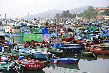 Cheung Chau Island, Harbor, Fishing Boats, Hong Kong, China, Asia