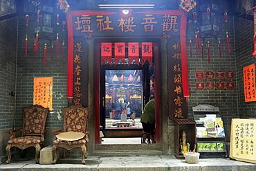 Kwun Yum Temple, 19th century Tin Hau (Goddess of the Sea) Temple Complex, Yau Ma Tei, Kowloon, Hong Kong, China, Asia