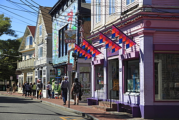 Commercial Street, Provincetown, Cape Cod, Massachusetts, New England, United States of America, North America