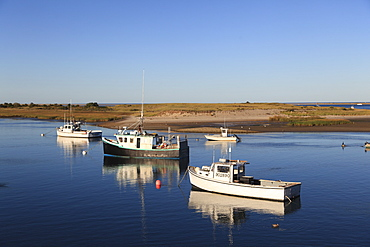 Fishing boats, Harbor, Chatham, Cape Cod, Massachusetts, New England, United States of America, North America