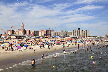 Beach, Coney Island, Brooklyn, New York City, New York, United States of America, North America