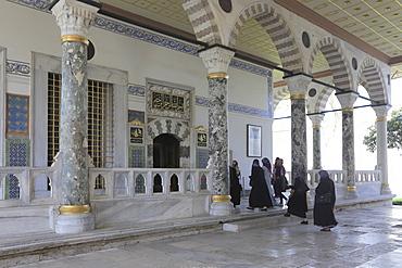 Audience Chamber (Audience Hall), Topkapi Palace, UNESCO World Heritage Site, Istanbul, Turkey, Europe