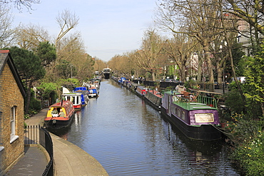 House Boats, Little Venice, Regents Canal, London, England, United Kingdom, Europe