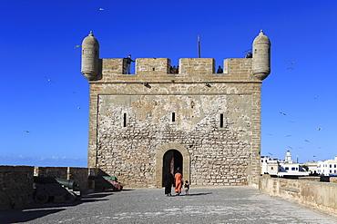 Skala du Port, Fort, 18th century ramparts, Essaouira, Morocco, Atlantic Coast, North Africa, Africa