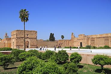 El Badi Palace (Badii Palace) (Badia Palace), The Incomparable Palace, 16th century, Marrakesh (Marrakech), Morocco, North Africa, Africa