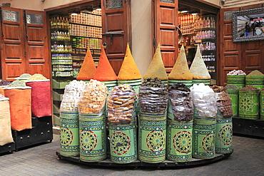 Spice Market, Souk, Mellah (Old Jewish Quarter), Marrakesh (Marrakech), Morocco, North Africa, Africa