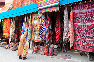 Carpets, Souk, Market, Medina, UNESCO World Heritage Site, Marrakesh, Marrakech, Morocco, North Africa