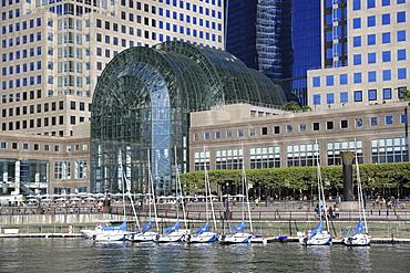 Winter Garden Atrium, World Financial Center Plaza, Brookfield Place, North Cove Marina, Manhattan, New York City, United States of America, North America