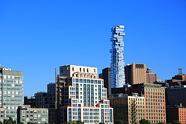 Tribeca, Jenga Tower, designed by architect Herzog and de Meuron, Lower Manhattan, New York City, United States of America, North America