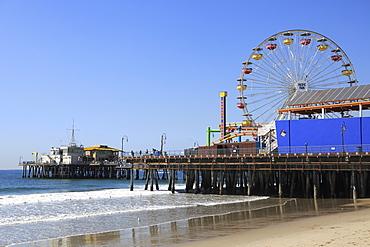 Santa Monica Pier, Pacific Park, Beach, Santa Monica, Los Angeles, California, United States of America, North America