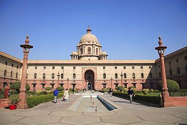 Secretariat North Block, offices for government ministers, New Delhi, India, Asia