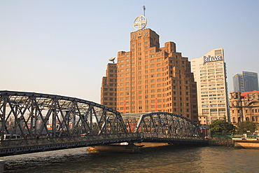 Historic Broadway Mansions Hotel (formerly Shanghai Mansions) built in 1930s, Suzhou Creek, Shanghai, China, Asia