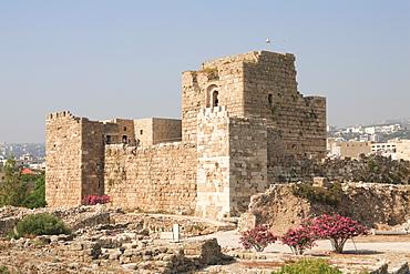 Crusader Castle, ancient ruins, Byblos, UNESCO World Heritage Site, Jbail, Lebanon, Middle East