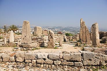 Temple of Obelisks, ancient ruins, Byblos, UNESCO World Heritage Site, Jbail, Lebanon, Middle East