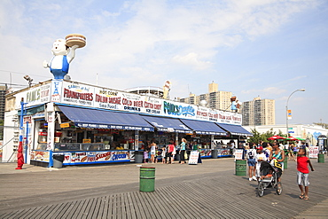 Boardwalk, Coney Island, Brooklyn, New York City, United States of America, North America