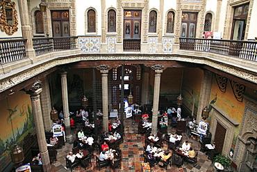 Restaurant, SanbornÔøOs department store, Casa de los Azulejos (House of Tiles), originally a palace, Mexico City, Mexico, North America