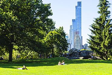 Skyscrapers bordering Central Park, Manhattan, New York City, New York, United States of America, North America