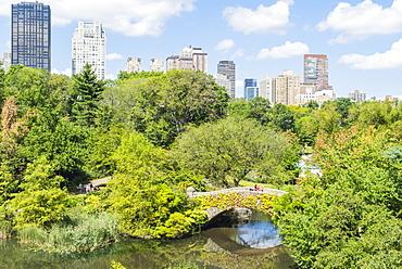 The Pond, Central Park, Manhattan, New York City, New York, United States of America, North America