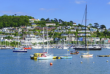 Kingswear and River Dart viewed from Dartmouth, Devon, England, United Kingdom, Europe
