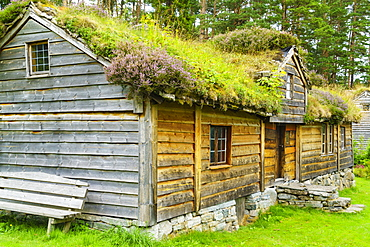 Sunnmore Museum, where over fifty traditional buildings have been relocated at the site of the old Borgundkaupangen trading centre, Alesund, More og Romsdal, Norway, Scandinavia, Europe