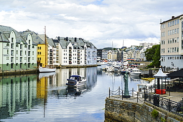 Alesund, noted for its Art Nouveau achitecture, Norway, Scandinavia, Europe