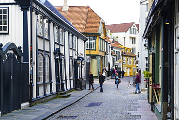 Shopping street in the centre of Stavanger, Norway, Scandinavia, Europe