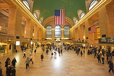 Main Concourse  in Grand Central Terminal, Rail station, New York City, New York, United States of America, North America