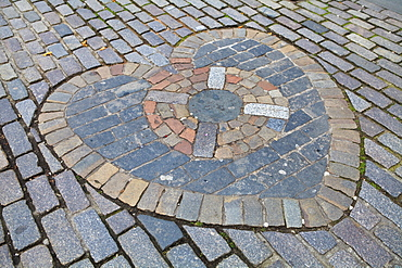 Heart of Midlothian, Royal Mile, Old Town, Edinburgh, Lothian, Scotland, United Kingdom, Europe