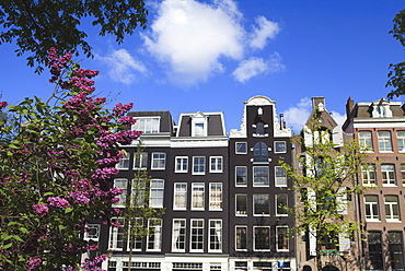 Houses on the Prinsengracht, Amsterdam, Netherlands, Europe