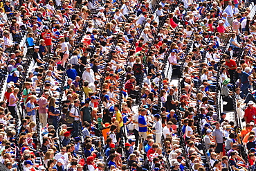 Large crowd of spectators in a sports arena, London, England, United Kingdom, Europe