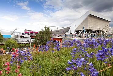 Aquatics Centre in the Olympic Park, Stratford City, London, England, United Kingdom, Europe