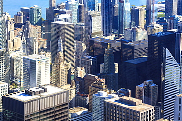 Skyscrapers in Downtown Chicago, Illinois, United States of America, North America
