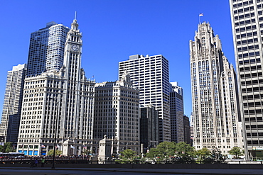 Wrigley Building and Tribune Tower, Chicago, Illinois, United States of America, North America