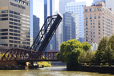 Chicago River scene, Chicago, Illinois, United States of America, North America