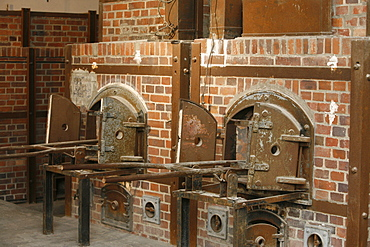 Crematorium at Dachau concentration camp, Dachau, Bavaria, Germany, Europe