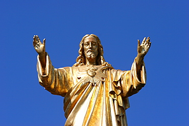 Statue of Jesus Christ. Basilica of Fatima, Fatima, Estremadura, Portugal, Europe