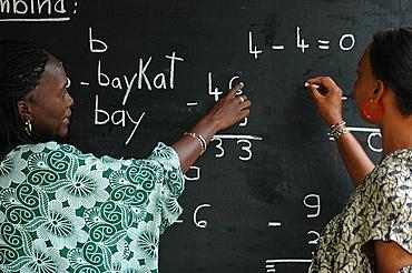 Women's literacy class, Kaolack, Senegal, West Africa, Africa