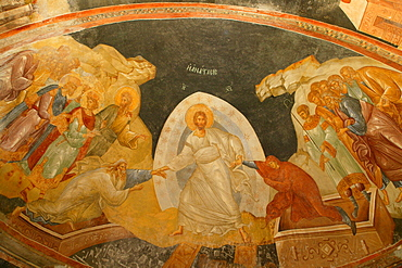 Descent of Christ into Limbo, Church of St. Saviour in Chora, Istanbul, Turkey, Europe