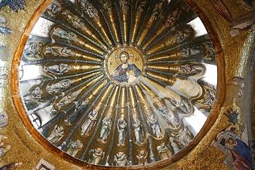 Mosaic depicting Jesus and his ancestors, from Adam to Jacob, in Kariye Camii (Holy Saviour in Chora church), Istanbul, Turkey, Europe