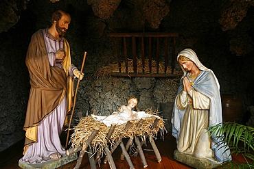 Nativity crib, Lyon, Rhone, France, Europe