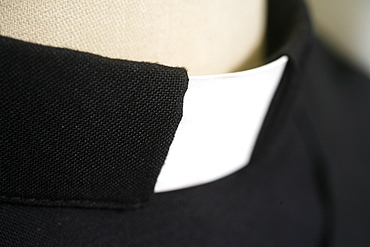 Clergyman's collar, Irigny, Rhones-Alpes, France, Europe