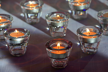Detail of several of the 13 candles for a Bar Mitzvah, Paris, France, Europe