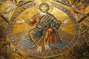 Mosaics depicting the Final Judgement, Baptistery, Duomo Florence, Tuscany, Italy, Europe