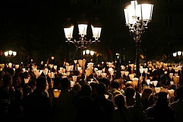 Procession in Paris during Pope Benedict XVI 's visit to France, Paris, France, Europe