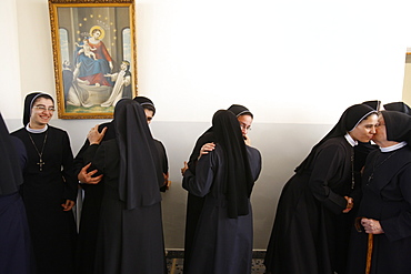 Newly ordained Sisters of the Rosary being congratulated, Beit Jala, Palestine National Authority, Middle East