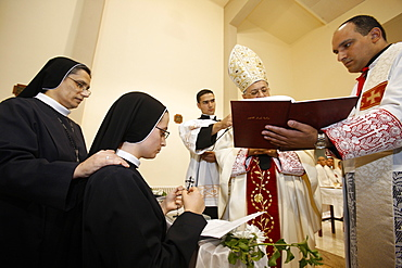 Ordination of nuns of the Sisters of the Rosary, Beit Jala, Palestine National Authority, Middle East