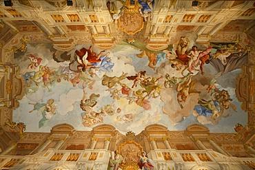 Melk abbey marble room fresco, Melk, Basse-Autriche, Austria, Europe