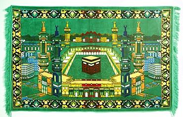 Ka'aba at Mecca on a prayer carpet, Tirana, Albania, Europe