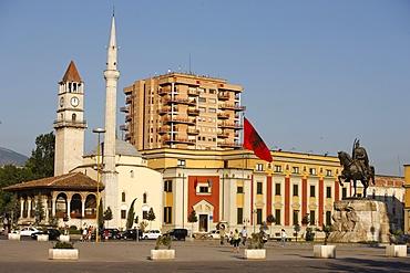 Skanderberg square, Tirana, Albania, Europe